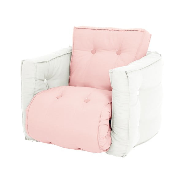 Fotoliu extensibil pentru copii Karup Design Mini Dice Pink, 40 x 100 cm, roz