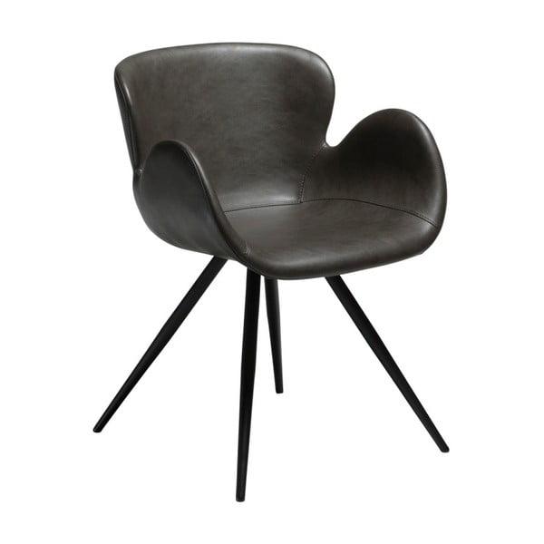 Szare krzesło ze skóry ekologicznej DAN-FORM Denmark Gaia