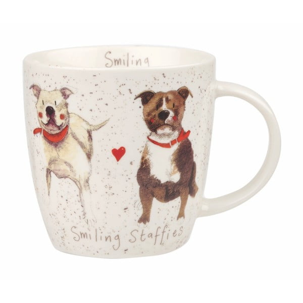 Porcelánový hrnček Churchill China Dog Staffie, 390 ml