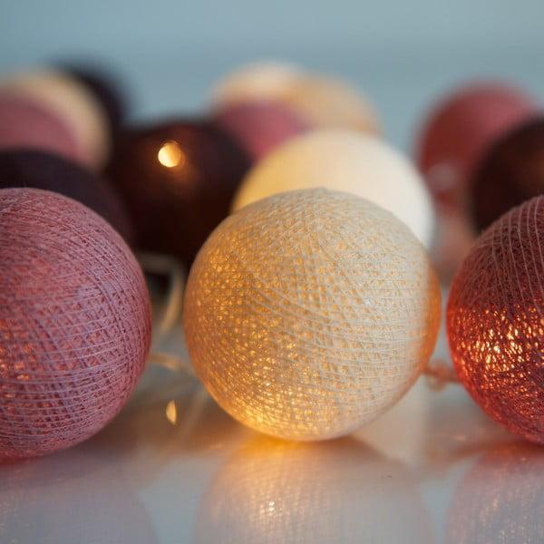 Svítící řetěz Irislights Dusty Pink, 10 světýlek