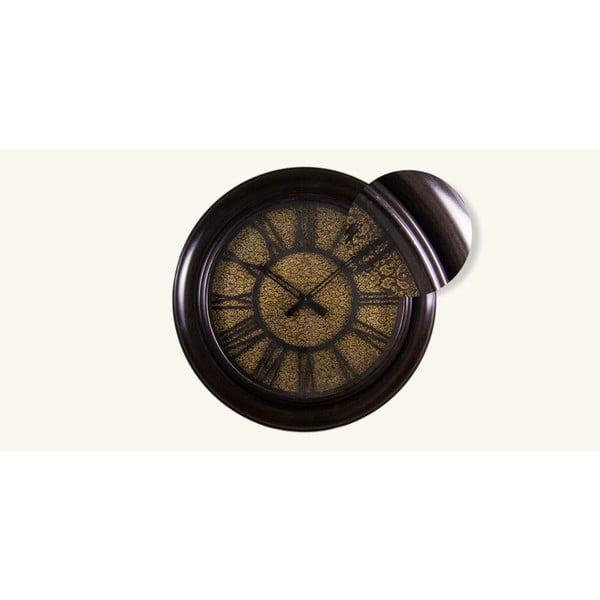 Nástěnné hodiny Zlatý tepaný ciferník