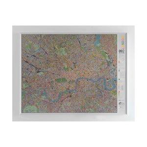 Magnetická mapa Londýna The Future Mapping Company London Street Map, 130x100cm