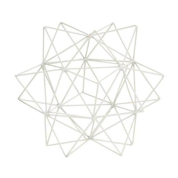 Dekorace 3D Star White