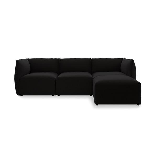 Sofa trzyosobowa VIVONITA Cube Dark Brown z podnogiem