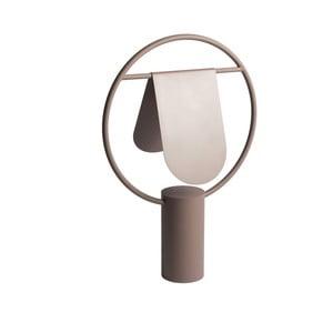 Hnědá stolní lampa z kovu HARTÔ Anae