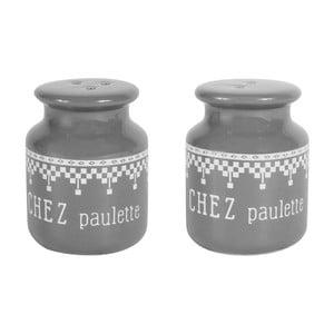 Set solniță sare și piper Comptoir de Famille Paulie, gri