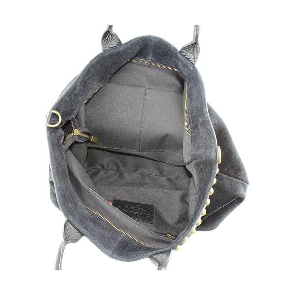 Kožená kabelka Skull, černá