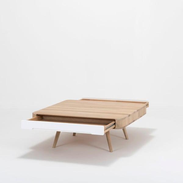 Konferenční stolek z dubového dřeva Gazzda Ena Club, 90x90x35cm
