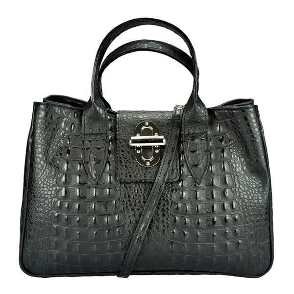 Černá kožená kabelka Pitti Bags Bergamo