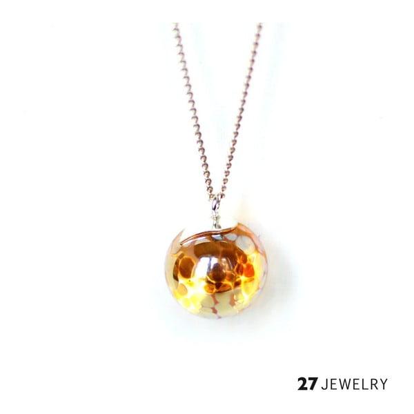 Smooth gold náhrdelník ze skla