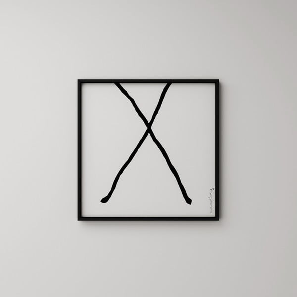 Plakát Litera X, 50x50 cm