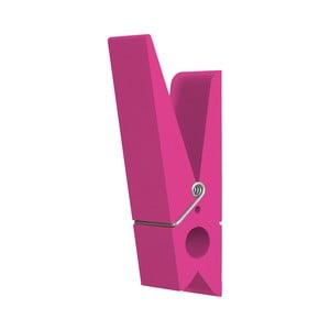 Růžový věšák ve tvaru kolíčku Swab