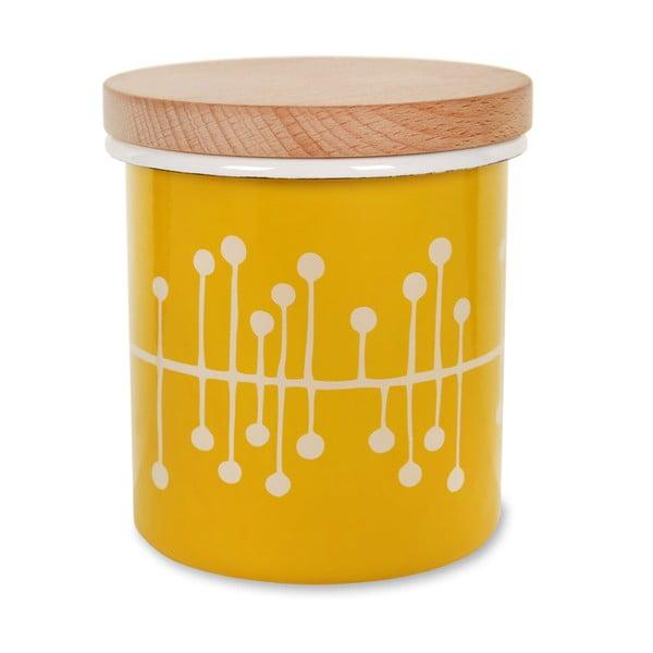 Smaltovaná dóza Canister Mustard