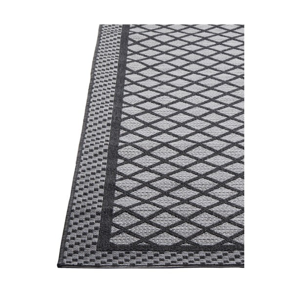Šedý vysoce odolný koberec vhodný do exteriéru Webtappeti Matrix,130x190cm