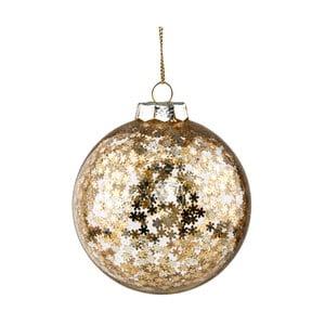 Vánoční závěsná ozdoba ze skla ve zlaté barvě Butlers Sparkle, ⌀ 8 cm