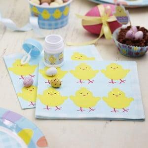 Sada 20 papírových ubrousků Neviti Easter Chick