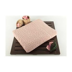 Růžová koupelnová předložka Bath Powder, 60x100cm