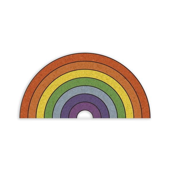 Avizier în formă de curcubeu Really Nice Things Rainbow, 70 x 50 cm