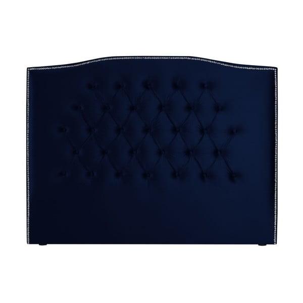Námořnicky modré čelo postele Mazzini Sofas, 200 x 120 cm