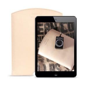 Kožený obal na iPad Air Cream