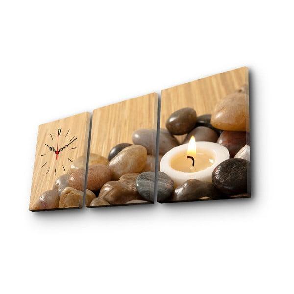 Nástenné obrazové hodiny Sviečka, 96×40 cm