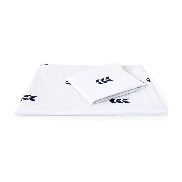 Bílé povlečení Hawke&Thorn Finch Straw,150x200cm +polštář 50x60cm