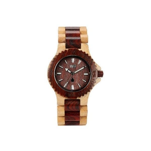 Dřevěné hodinky Date Bicolor Beige and Brown
