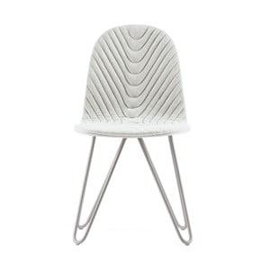 Krémová židle s kovovými nohami IkerMannequinXWave