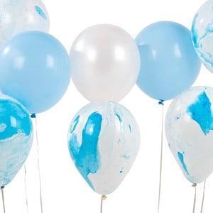Set 12 baloane Talking Tables Unicorn, albastru