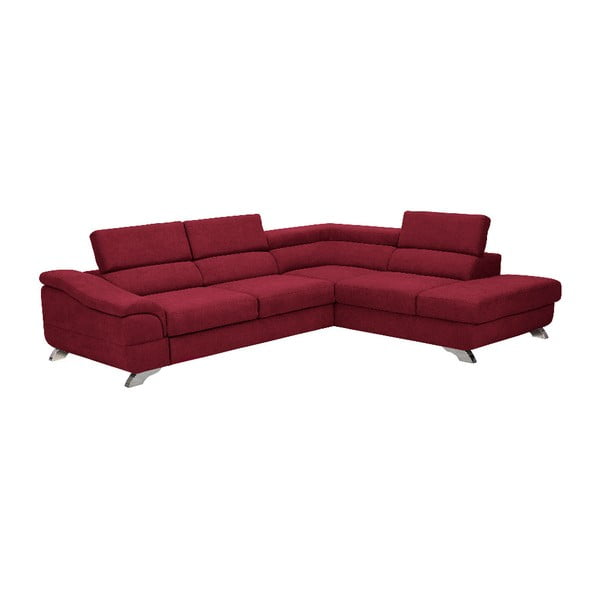 Červená rozkládací rohová pohovka Windsor & Co Sofas Gamma, pravý roh