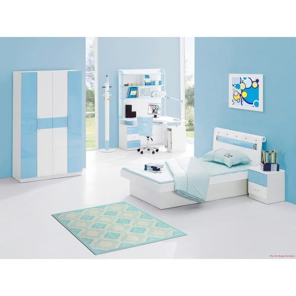 Tyrkysový bavlněný koberec Floorist Kehide, 100x200cm