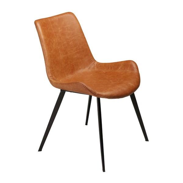 Hnědá jídelní židle z eko kůže DAN–FORM Denmark Hype