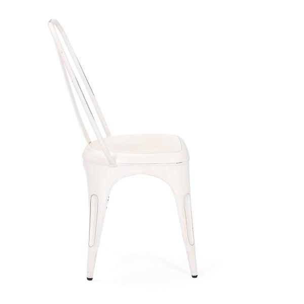 Sada 4 bílých kovových jídelních židlí Interlink Aix