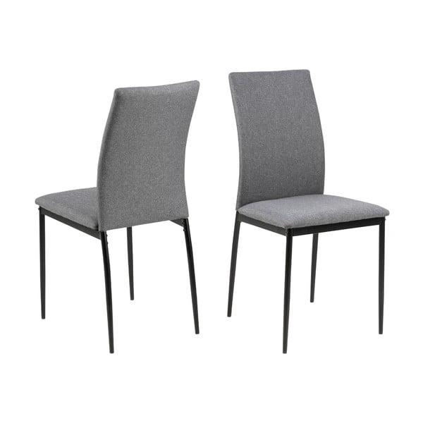Sivá jedálenská stolička Actona Demina