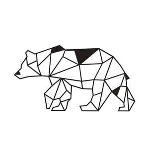 Decorațiune metalică de perete Wall Decor Bear, negru