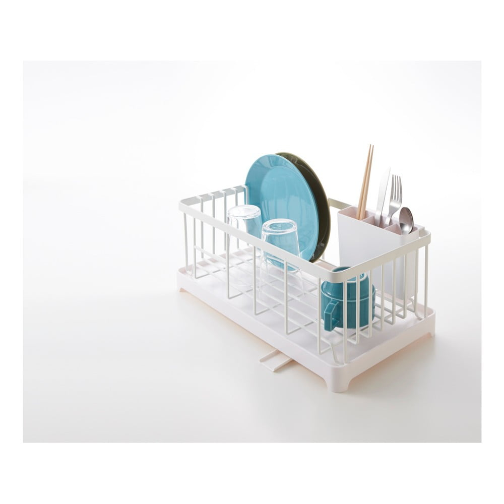 Bílý odkapávač nádobí Yamazaki Tower Wire