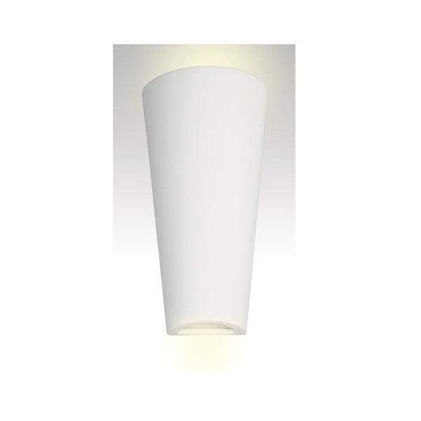 Nástěnné keramické světlo Tuba, bílé