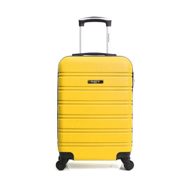 Žltý cestovný kufor na kolieskách BlueStar Bilbao, 35 l