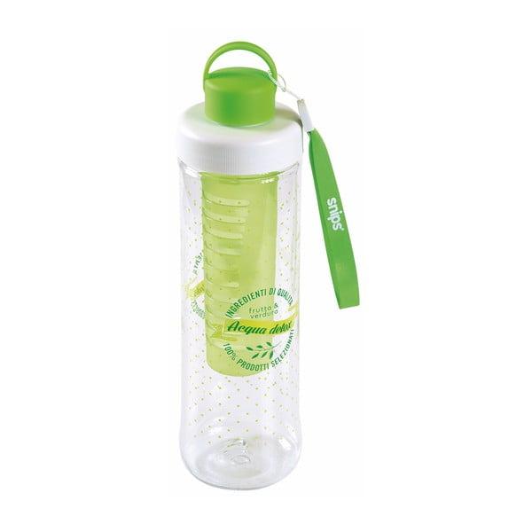 Zelená fľaša na vodu so sitkom Snips Infuser, 750 ml