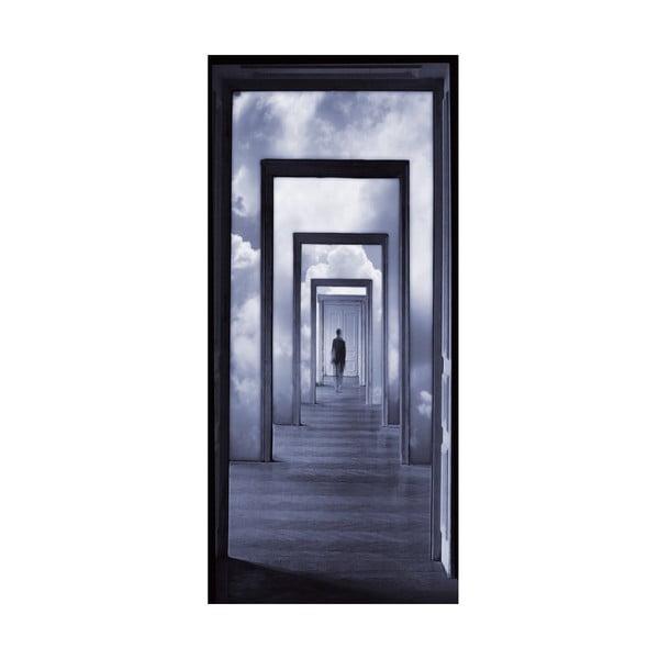 Samolepka na dveře Step Into Clouds