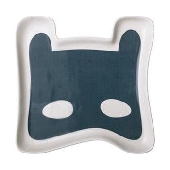 Farfurie din ceramică pentru copii Bloomingville Superhero, albastru