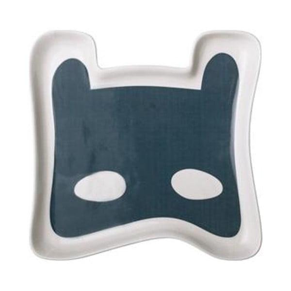 Modrý detský tanier z kameniny Bloomingville Superhero
