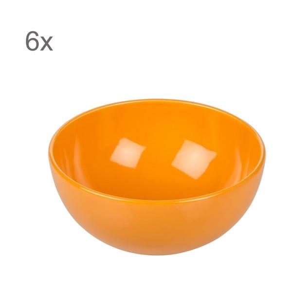 Sada 6 misek Kaleidos, oranžová