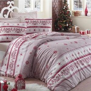 Lenjerie de pat cu cearșaf Snow, 200 x 220 cm
