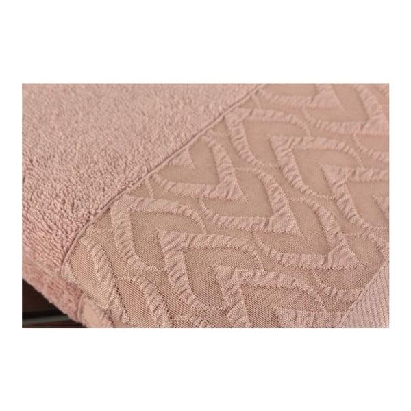 Sada 2 pudrově růžových ručníků Kalp Dusty Rose, 50x90cm