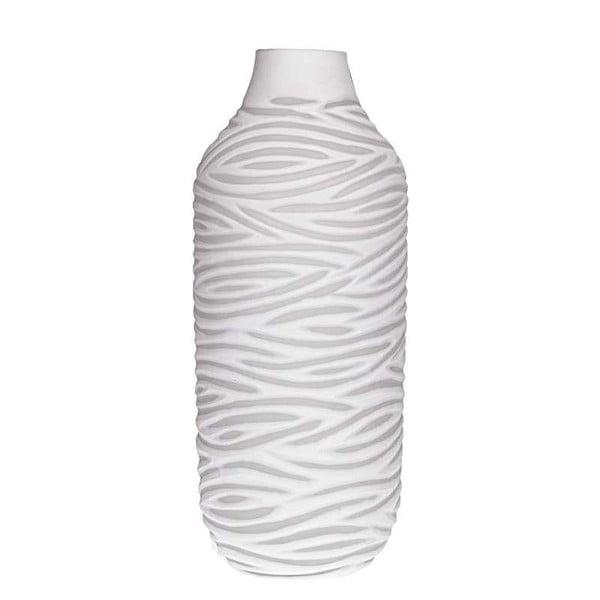 Bílá skleněná váza InArt Ximena
