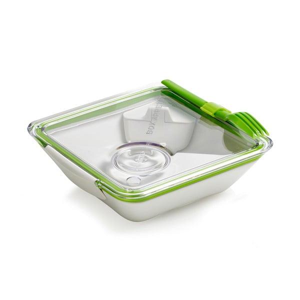 Bílo-zelený svačinový box Black Blum Apetit