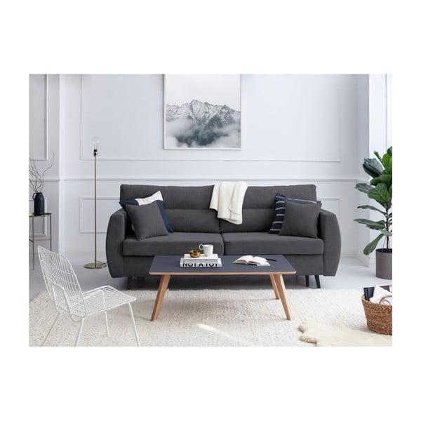 Tmavě šedá trojmístná rozkládací pohovka s úložným prostorem Cosmopolitan design Brisbane