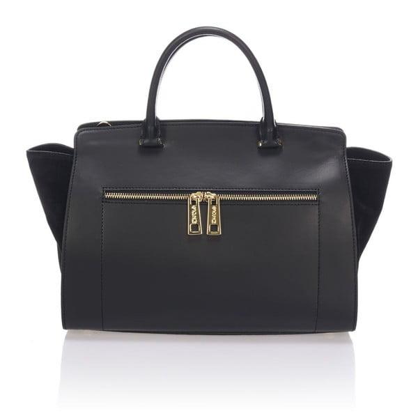 Kožená kabelka Krole Kristina, černá