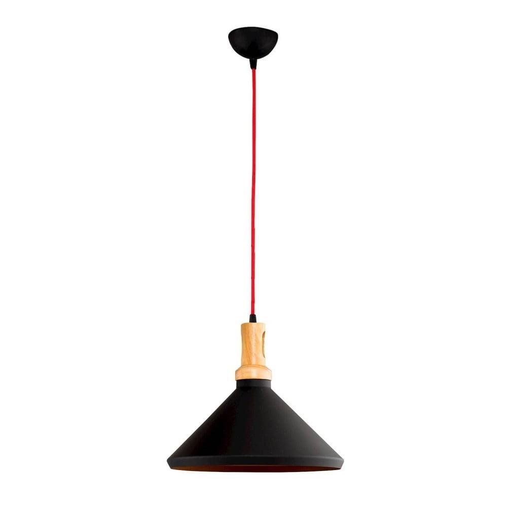 Černé závěsné svítidlo Home News